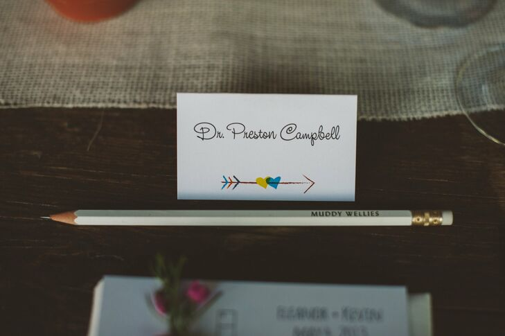 Intrigue Design Studio created whimsical escort cards for the reception.