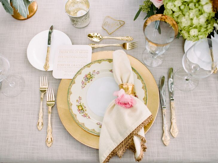 Glam Vintage Gold Place Settings