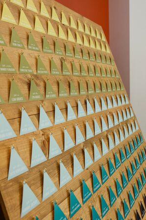 Gold Geometric Escort Cards