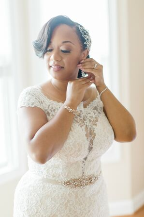 Bride Getting Ready for Wedding at Larkin's Sawmill in Greenville, South Carolina