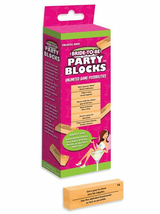 Bachelorette party blocks game
