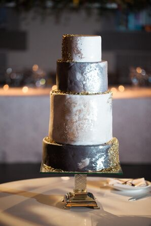 Silver and Gold Faux Cake