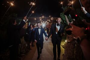 Modern Sparkler Send-Off