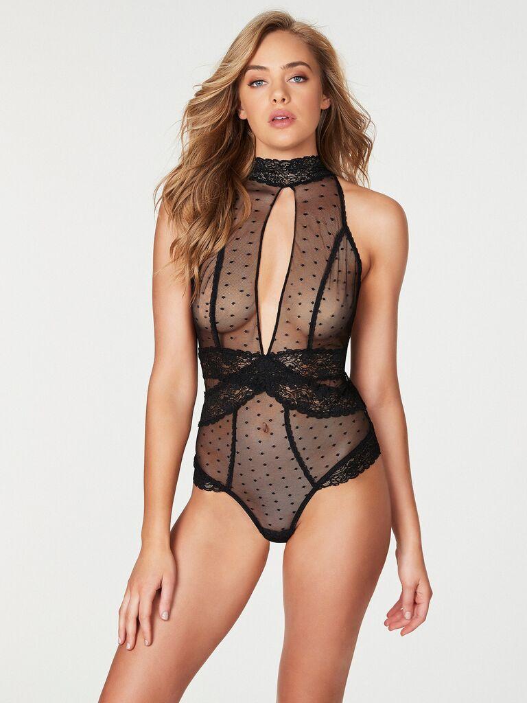 Lace high neck honeymoon lingerie