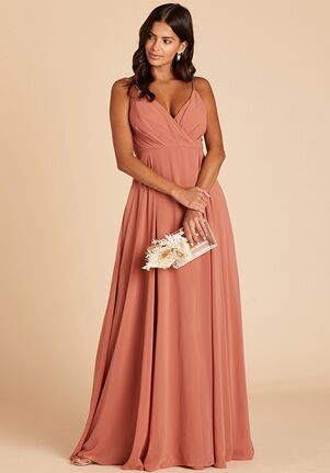 Birdy Grey Kaia Dress in Terracotta V-Neck Bridesmaid Dress