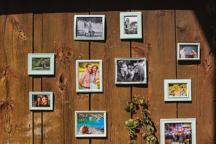 Reception Wall of Framed Photos
