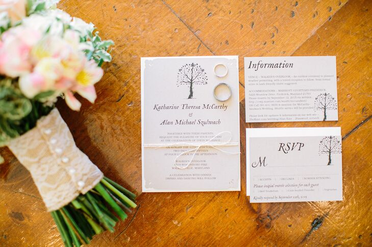 Tree Motif Invitation Suite