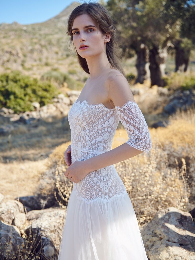 Vintage Sheath Wedding Dress