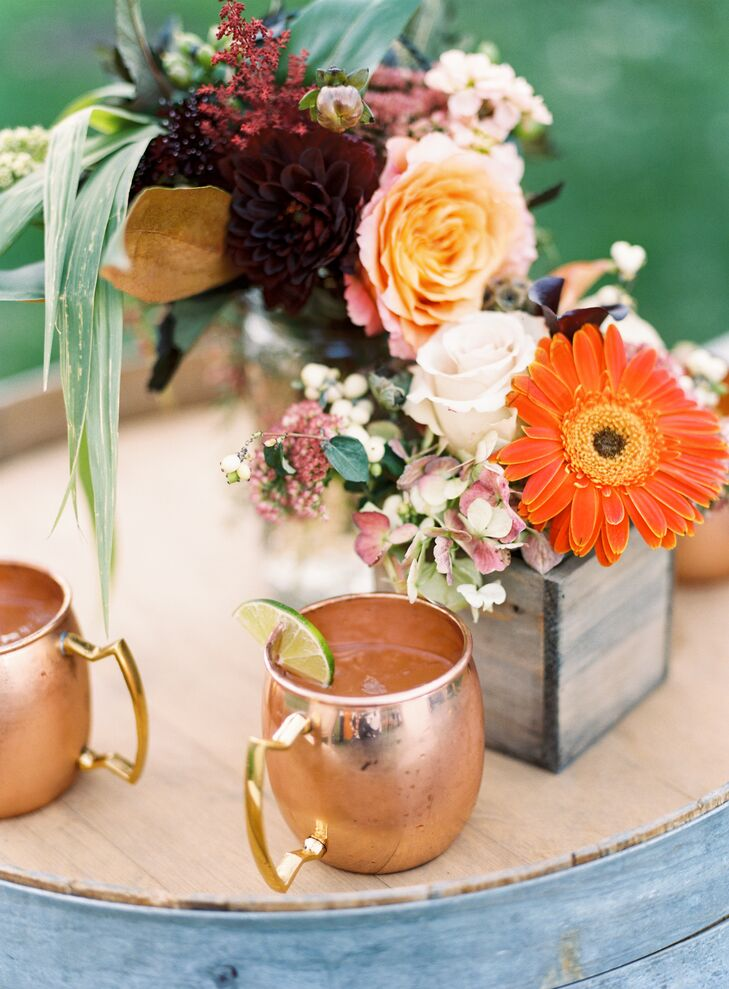 Signature Moscow Mule Cocktails and Copper Mugs