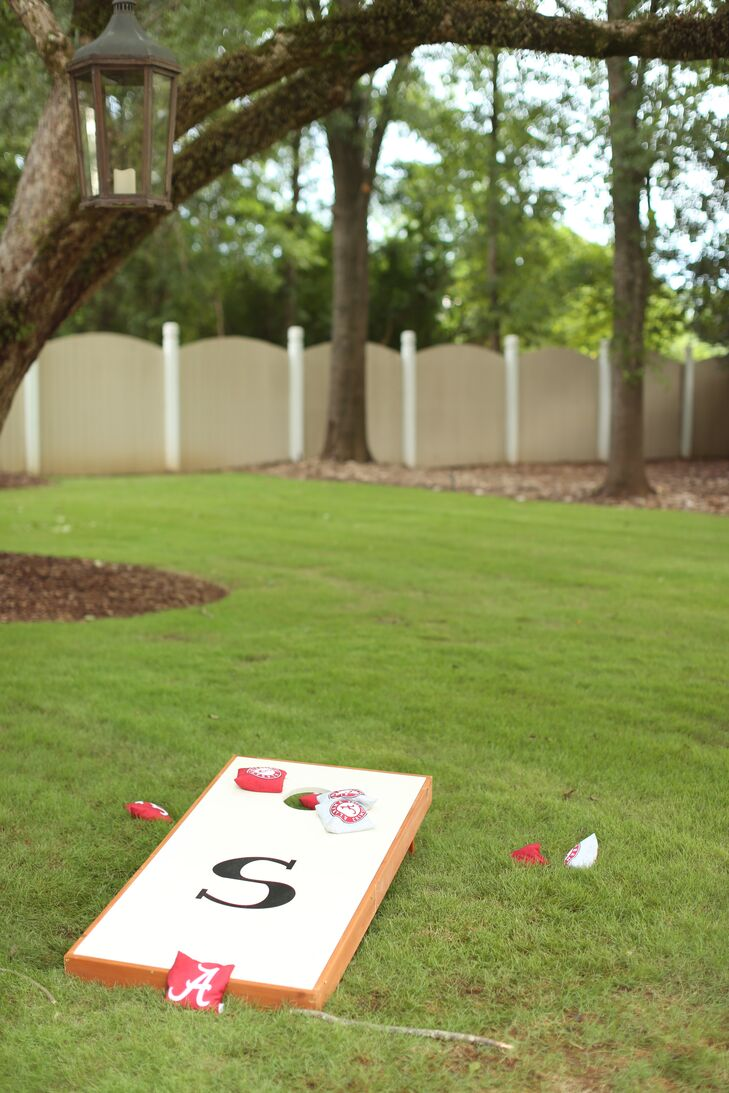 Monogrammed Cornhole Cocktail Hour Yard Game