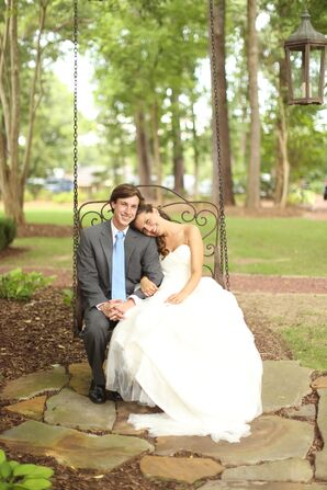 Strapless Tulle Ivory Ball Gown