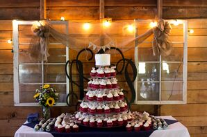 Wedding Cake and Red Velvet Cupcakes