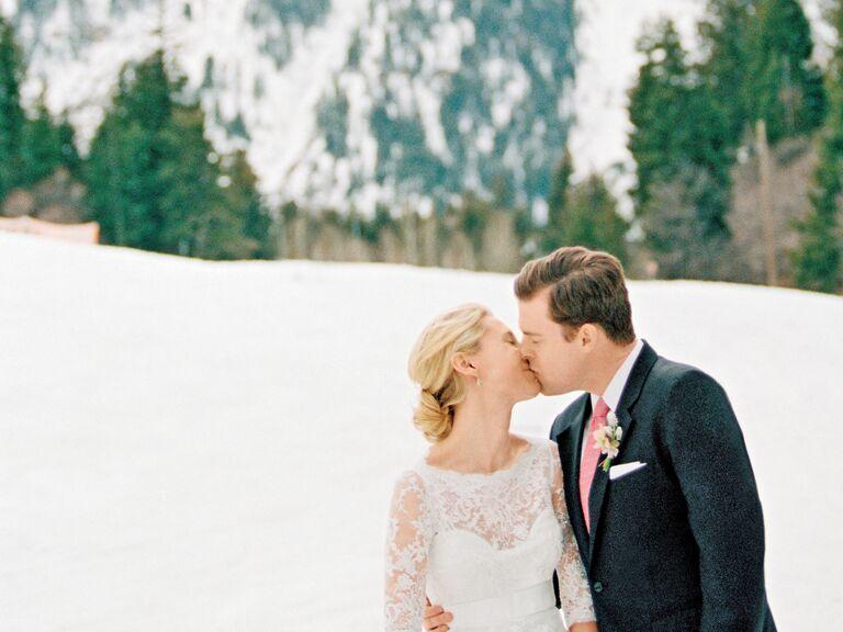utah mountain winter wedding