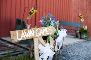 DIY Wooden 'Lawn Games' Sign