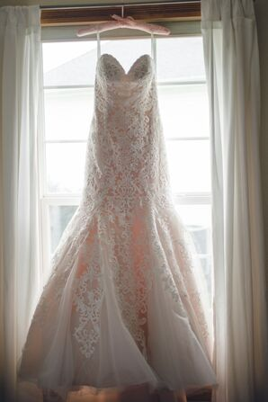 Allure Strapless Lace Wedding Dress