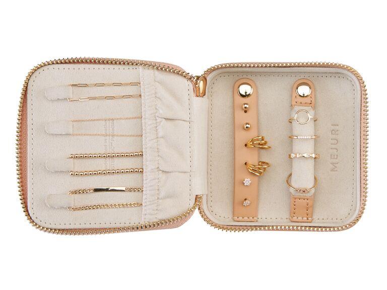 Travel jewelry case bridesmaid gift idea
