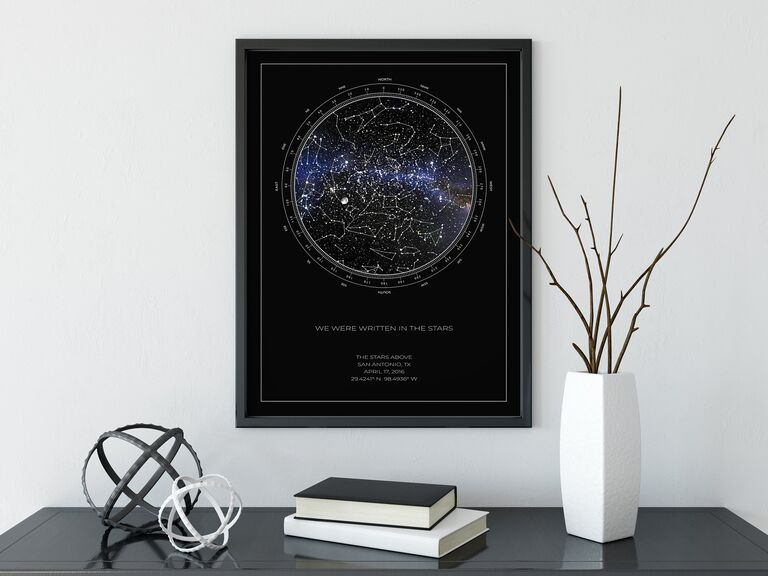 The Stars Above Co custom star map romantic gift for wife