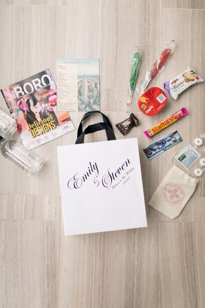 Welcome Bag with Guest Favors and Candy