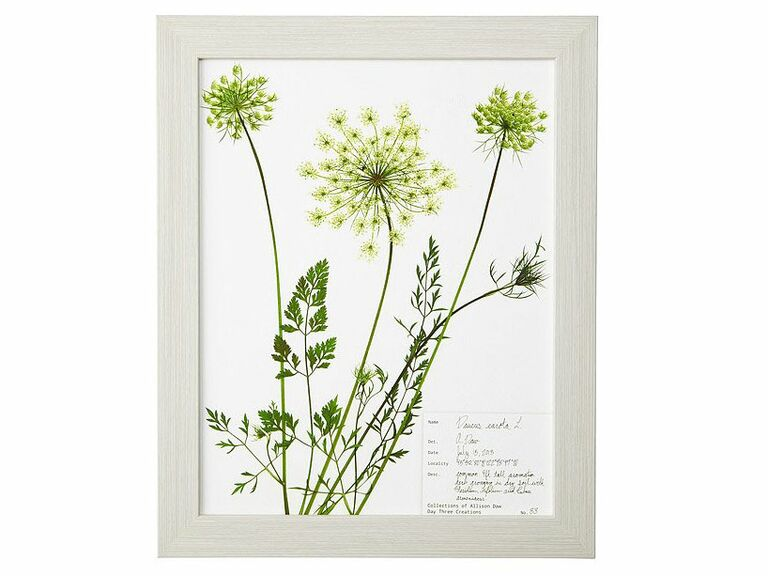 pressed botanical lace print