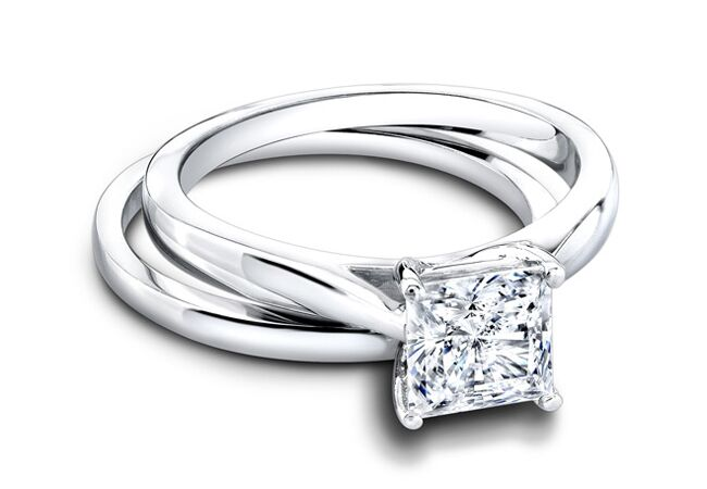 Princess cut engagement ring//Courtesy of Jeff Cooper