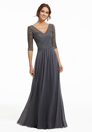 MGNY 72028 Gray Mother Of The Bride Dress