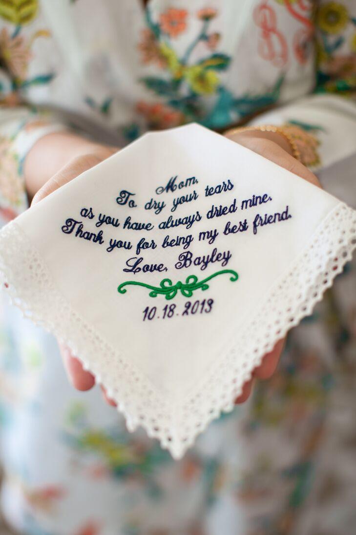 Ivory Custom-Made Handkerchief, Personal Message