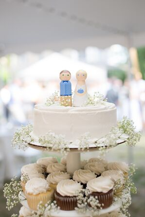 Custom Wooden Bride and Groom Cake Topper