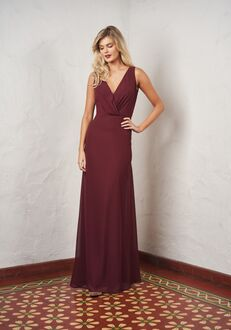 JASMINE P216055 V-Neck Bridesmaid Dress