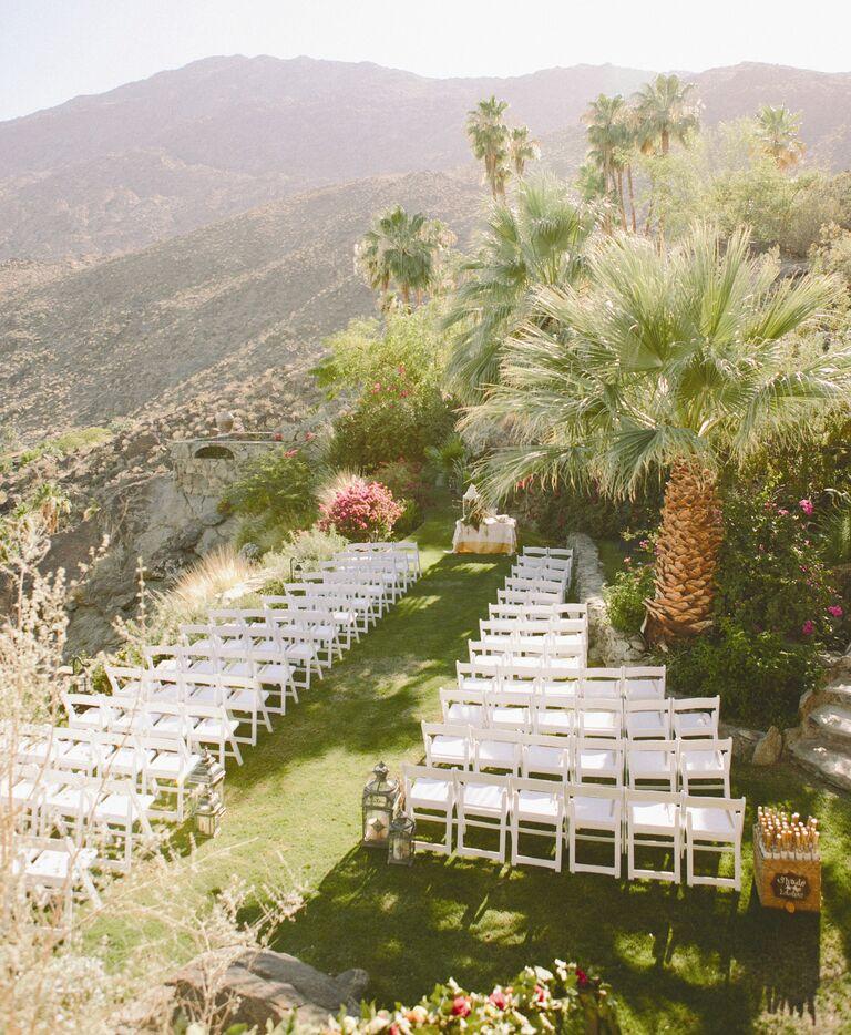 Backyard outdoor wedding in Palm Springs