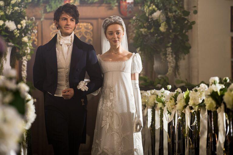 bridgerton wedding scene daphne