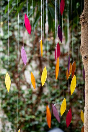 Colorful Hanging Escort Cards