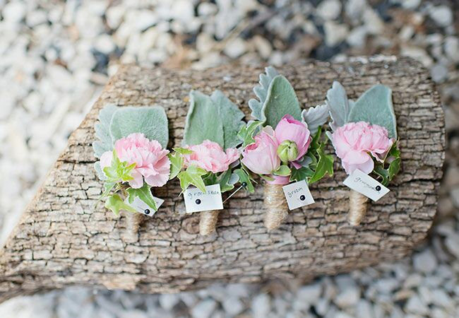Dusty Miller Boutonniere Inspiration | blog.theknot.com