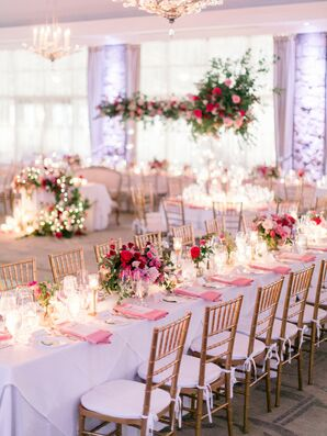 Pink Reception Dinner Tables