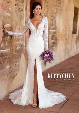 KITTYCHEN Couture FRANCES, K1946 Sheath Wedding Dress