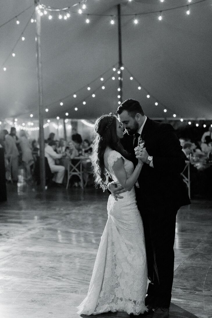 First Dance at Tented Reception
