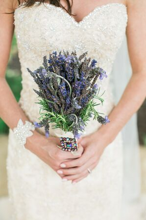 Lavender Bridal Bouquet With Vintage Brooch