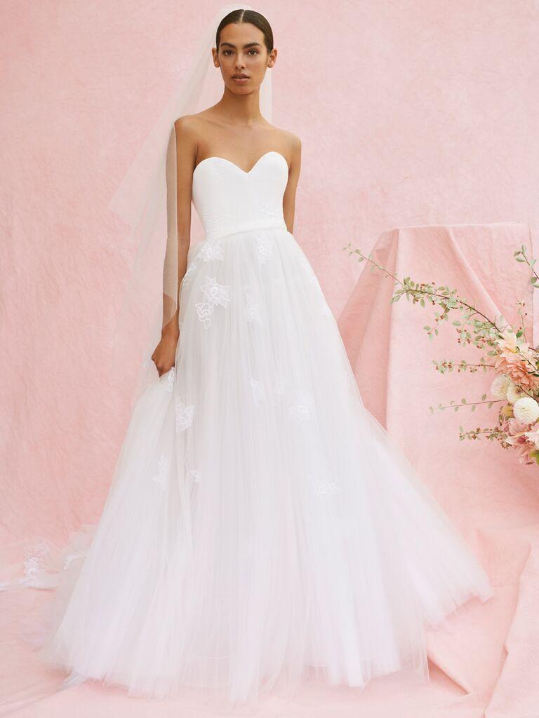 Carolina Herrera Madalyn strapless embroidered ball gown wedding dress