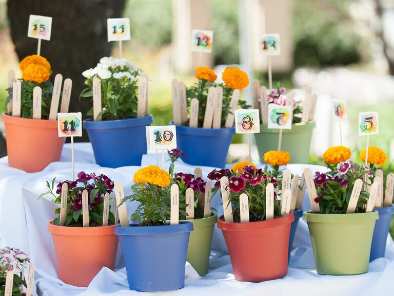 Potted plant table numbers