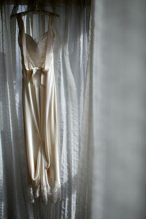 Form Fitting Column Wedding Dress