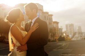 The Bride and Groom in San Francisco, California
