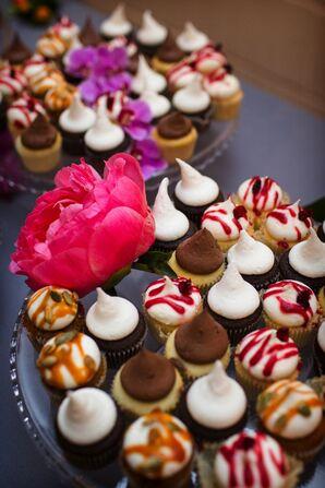 Cupcake Tower with Peony Flowers