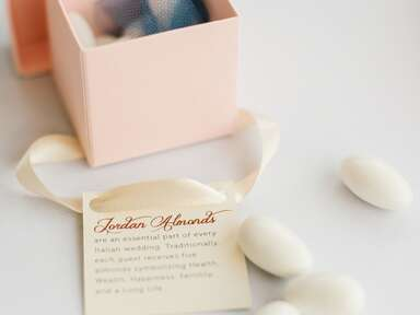 Jordan almonds for wedding favors