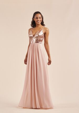 B2 Bridesmaids by Jasmine B213066 V-Neck Bridesmaid Dress