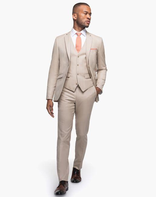 Generation Tux British Tan Notch Lapel Suit Brown Tuxedo