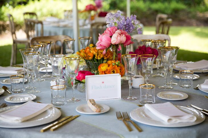 Bright Peony and Ranunculus Centerpieces