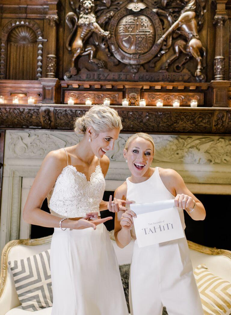 The Knot Dream Wedding 2017 honeymoon reveal