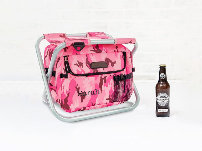 Camp chair and cooler gift for bridesmaid