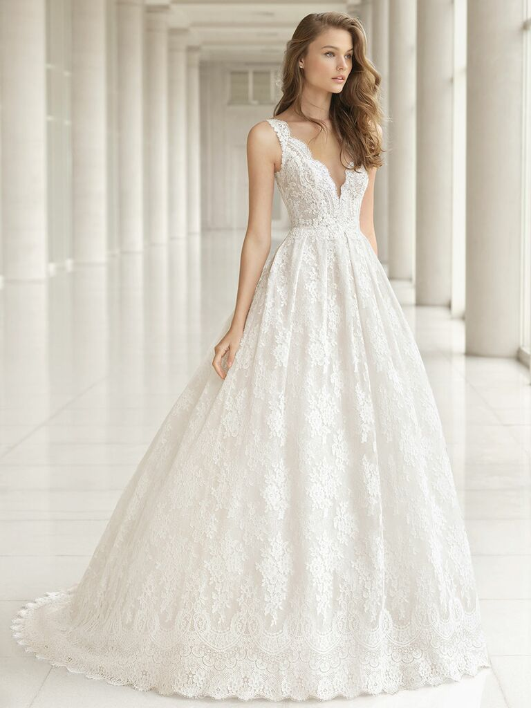 Rosa Clará Fall 2018 wedding dresses lace ball gown