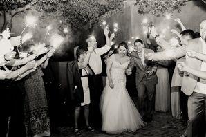 Embellished Fit-and-Flare Wedding Dress