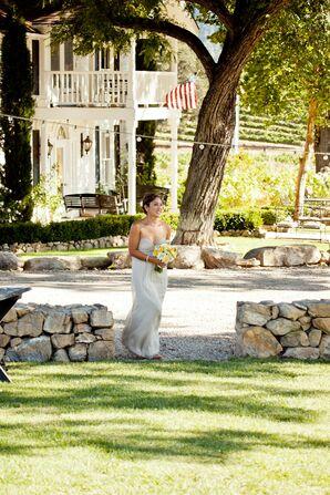 Strapless Chiffon Wedding Dress